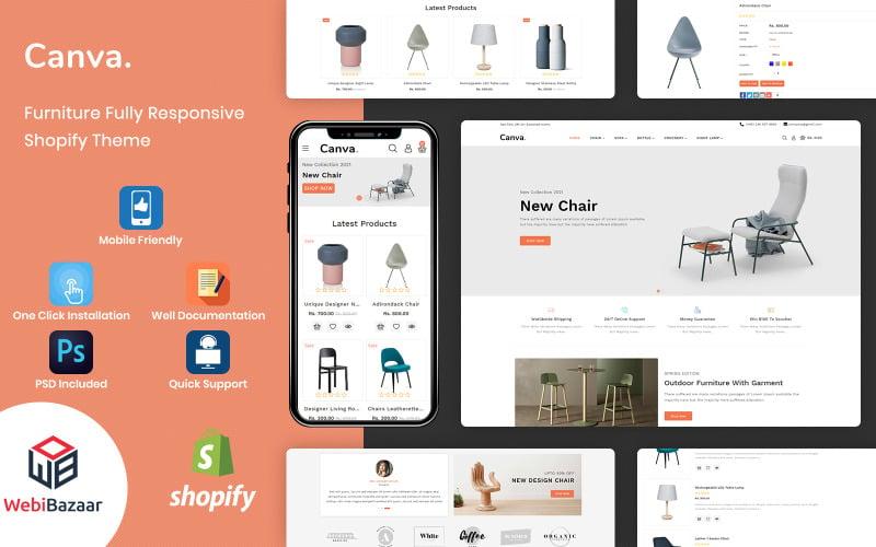 Canva - Modern Mobilya Shopify Şablonu