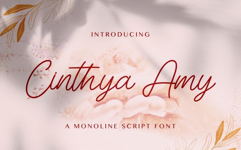 Cinthya Amy - Police manuscrite