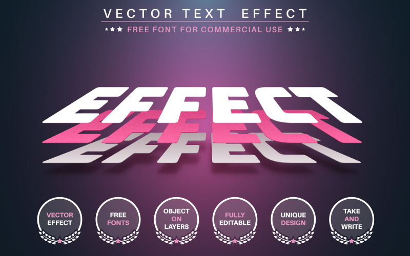 3D Paper Layer - Editable Text Effect,  Font Style Graphic Illustration