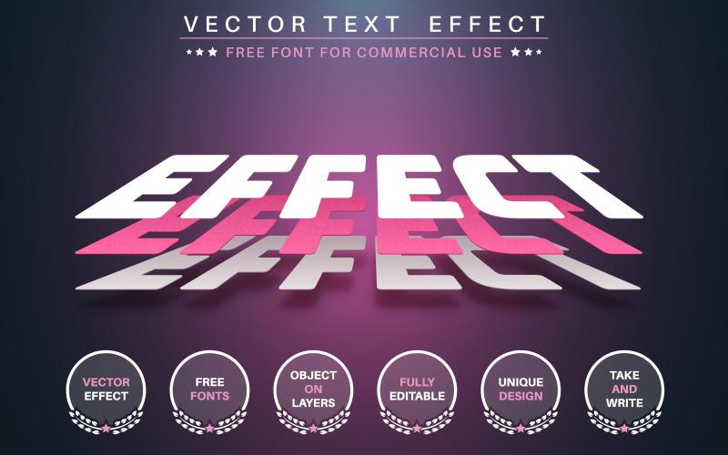 3D-слой бумаги - редактируемый текстовый эффект, графическая иллюстрация стиля шрифта