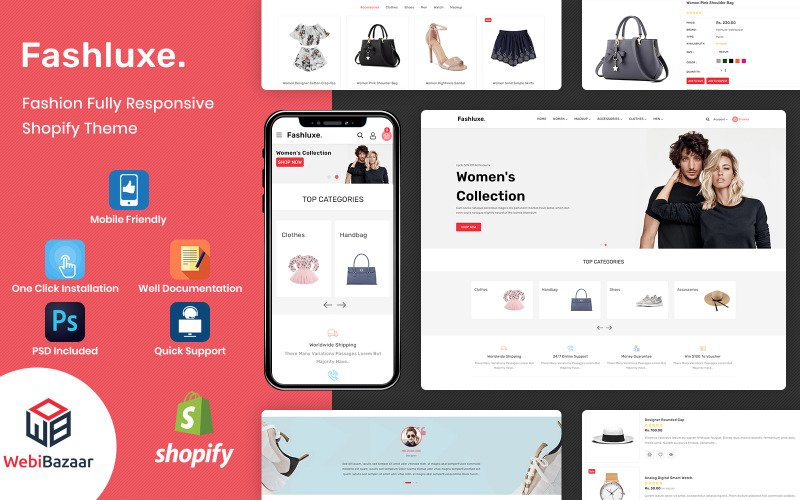 Fashluxe - Modern Fashion Shopify Template