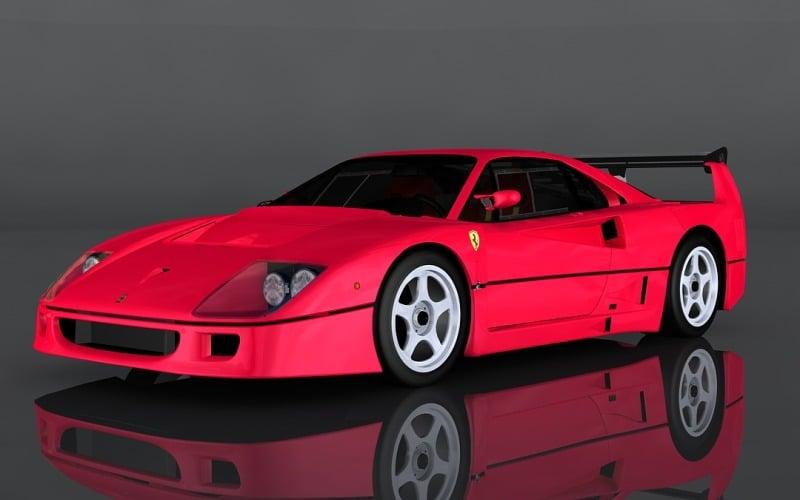 Ferrari F40 Competizione 3D Model