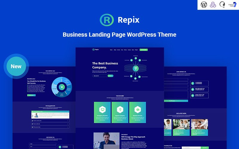 Repix - Business Landing Responsive WordPress Theme