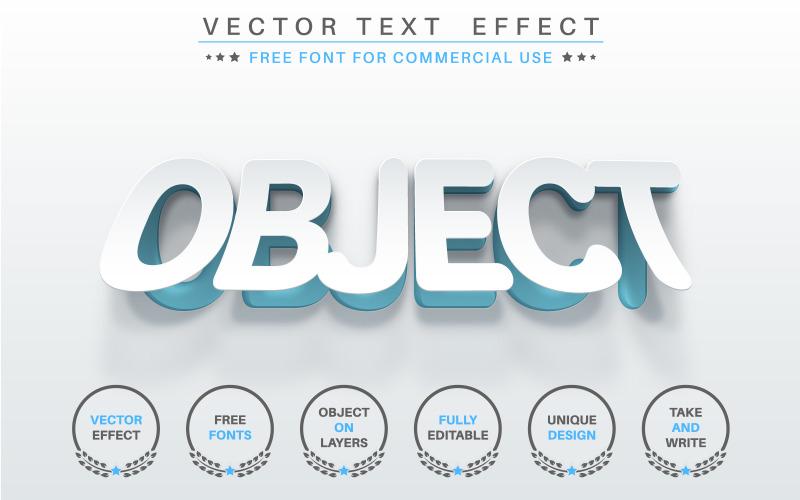 Slice White Paper - редактируемый текстовый эффект, графическая иллюстрация стиля шрифта