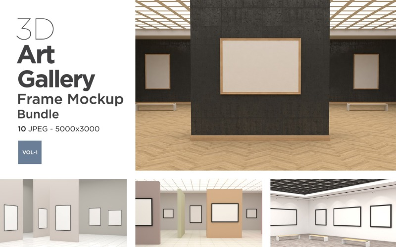 Art Gallery Frames Mockup Vol-1 Product Mockup