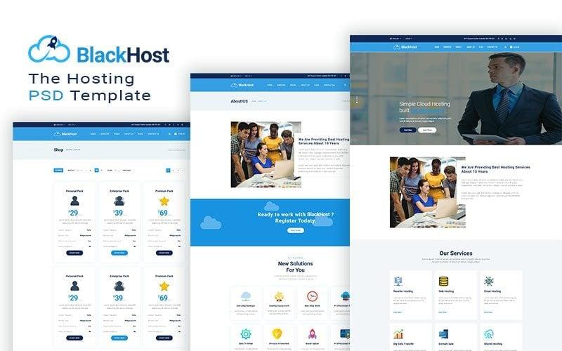 Blackhost - шаблон веб-сайта универсального хостинга