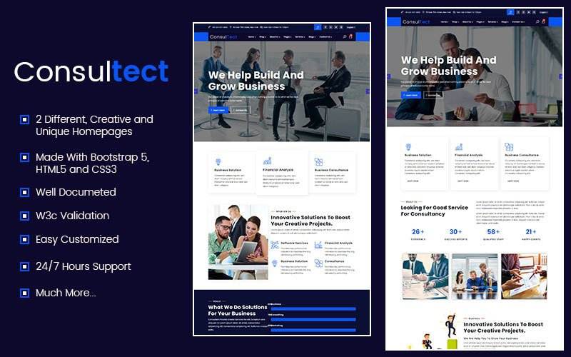 Consultect - Consulting Finance Accounting Bootstrap5 Template