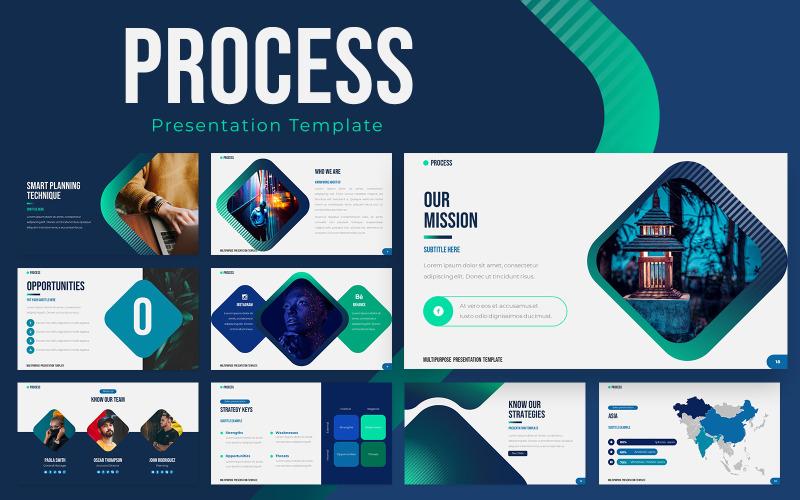 Folyamat Powerpoint bemutató sablon