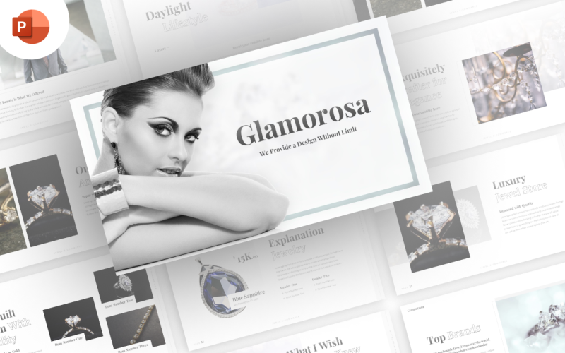 Glamourosa - Smycken E-handel PowerPoint-mallar