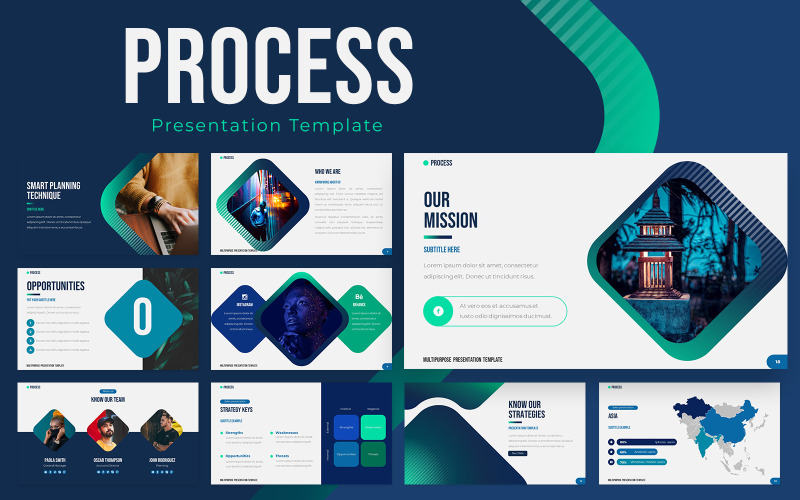 Process Powerpoint Presentation Template