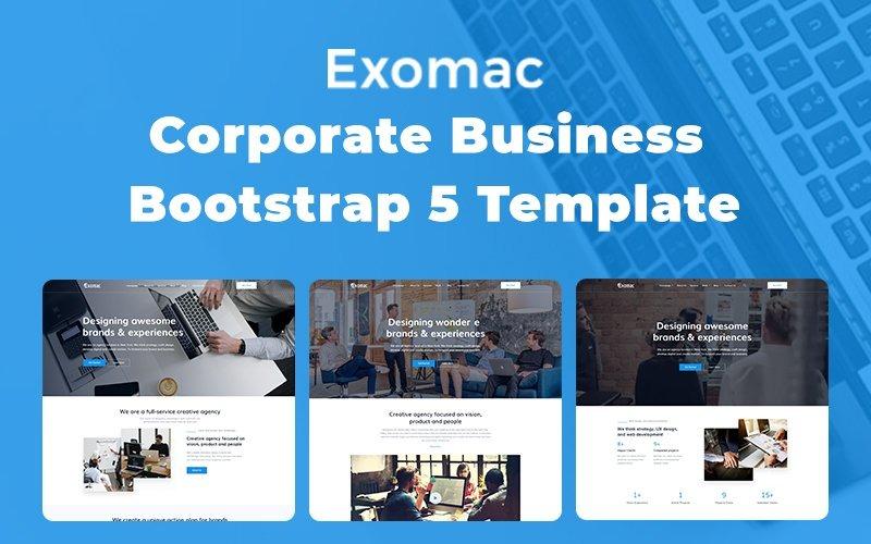 Exomac - Vállalati Bootstrap 5 webhelysablon