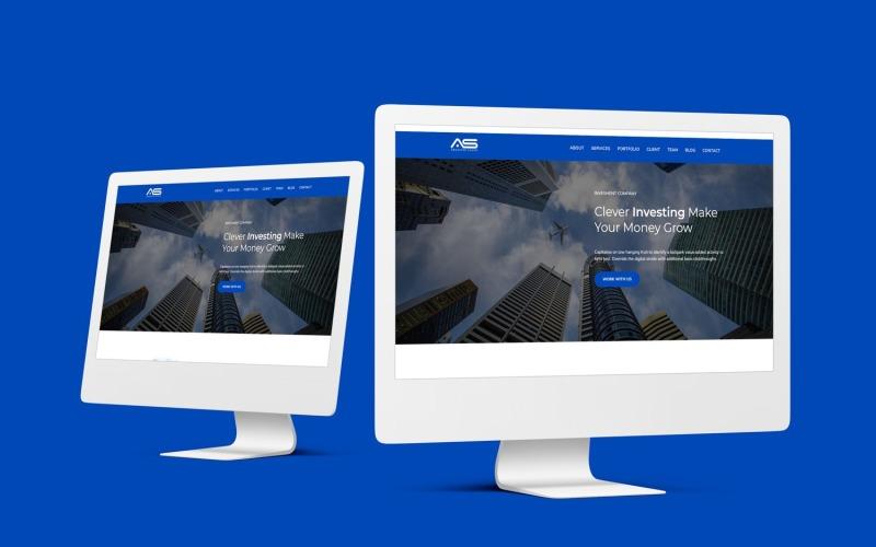 Sayed - Modello di pagina di destinazione Bootstrap 4 della società di investimento