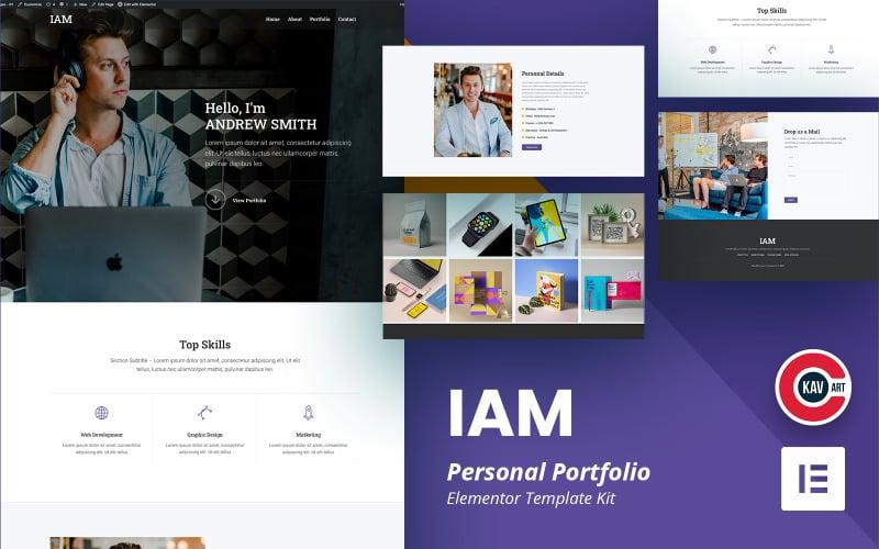 IAM - комплект Elementor для личного портфолио