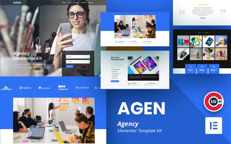 Agen - Kit Elementor dell'Agenzia