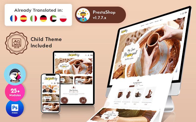 Pottery - Art Ceramic Store Çok Amaçlı PrestaShop Teması