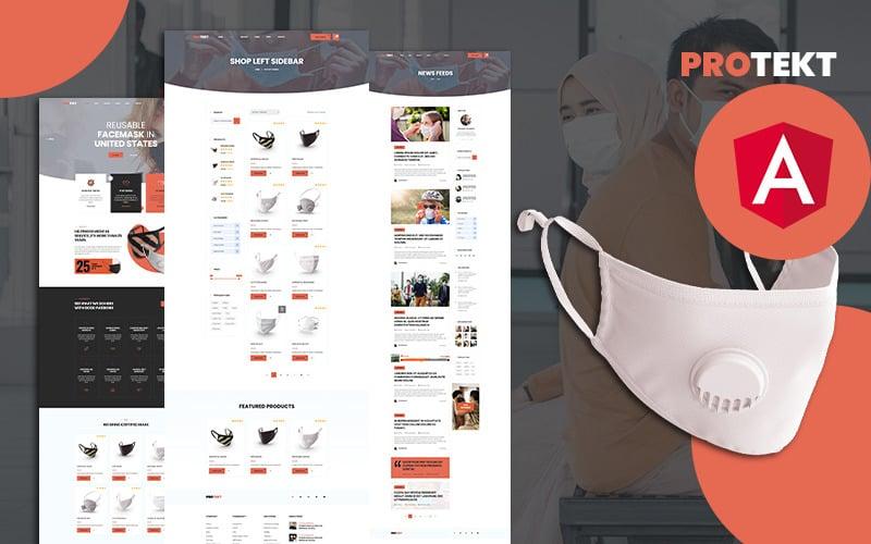 Protekt Mask shop Angular Website Template