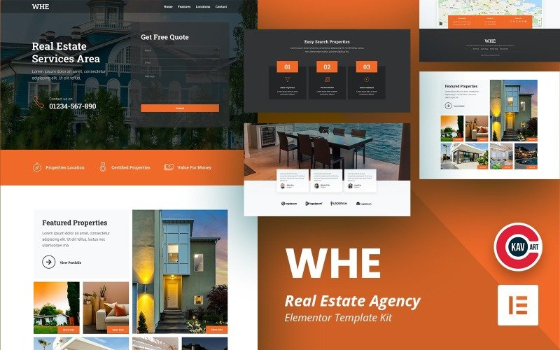 Whe - Real Estate Agency Elementor Template
