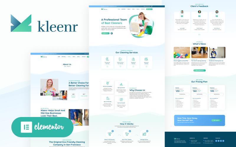 Kleenr - Cleaning Service Company Elementor WordPress Woocommerce Theme