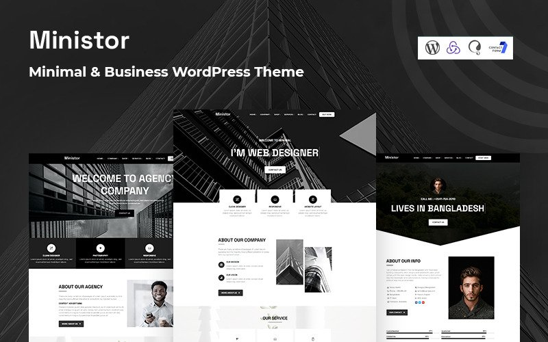 Ministor - Minimal and Business  Responsive WordPress Theme