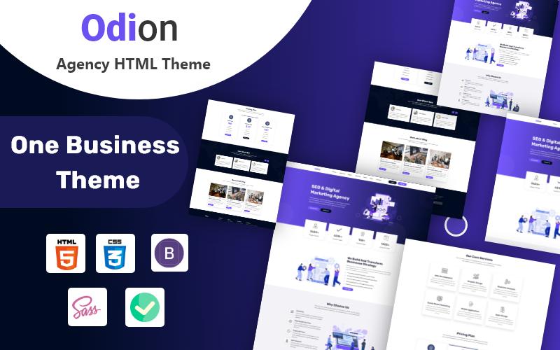 Odion - HTML5 шаблон креативного агентства