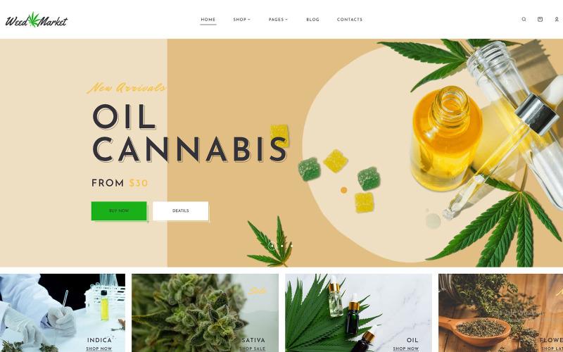 WeedMarket - Dokan Multivendor Marketplace WordPress téma