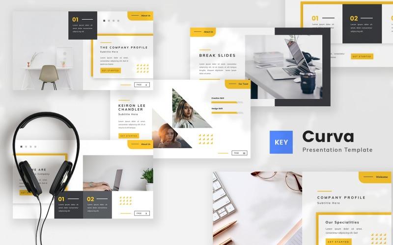 Curva - Creative Company Profile Keynote Template