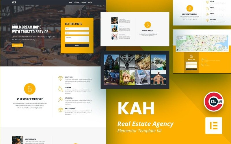 Kah - Real Estate Agency Elementor Kit