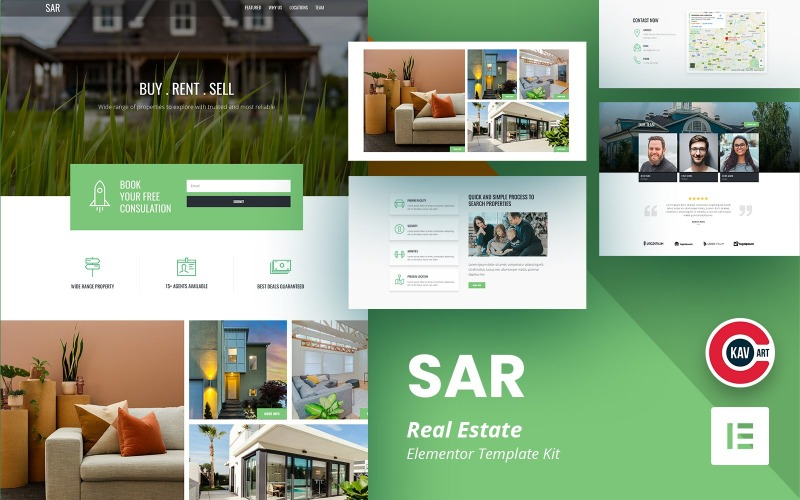 SAR - Elementor Kit för fastigheter
