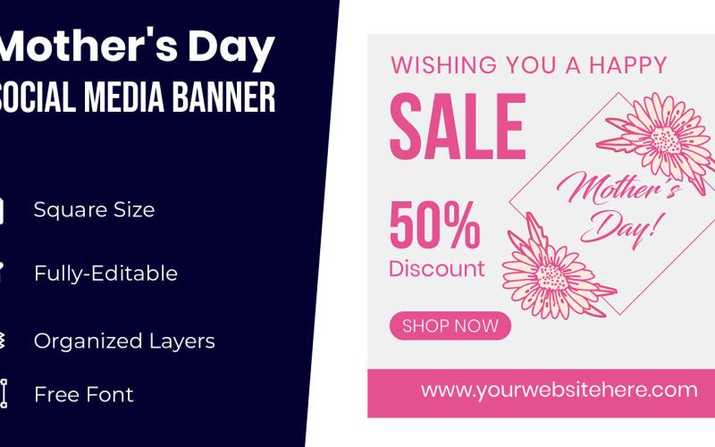 Flower Mothers Day Banner Design