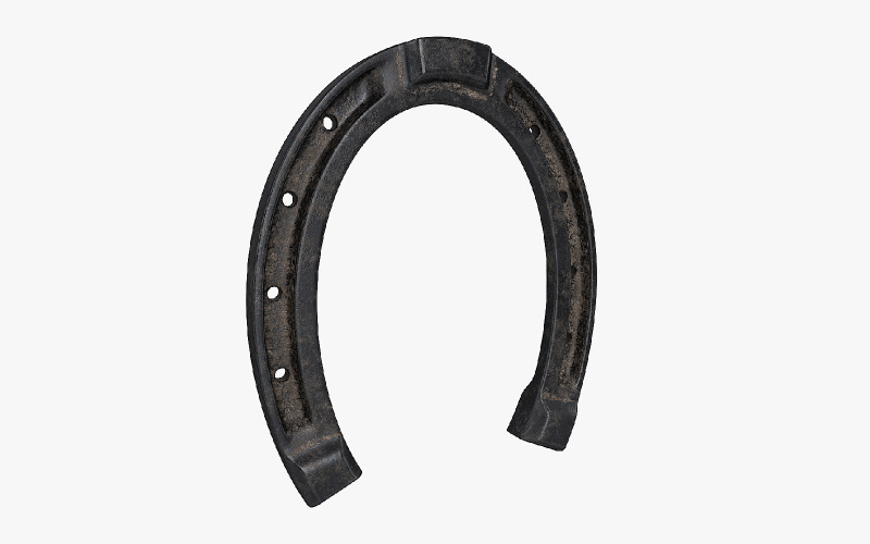 Horseshoe with PBR textures 3D model