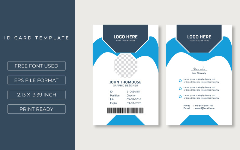 Office ID Card Corporate identity template