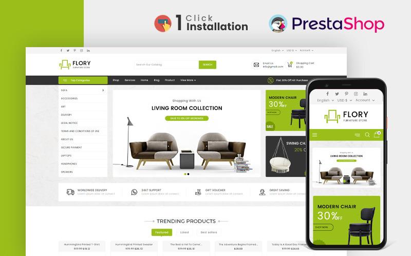 Тема Prestashop для мебельного магазина Flory