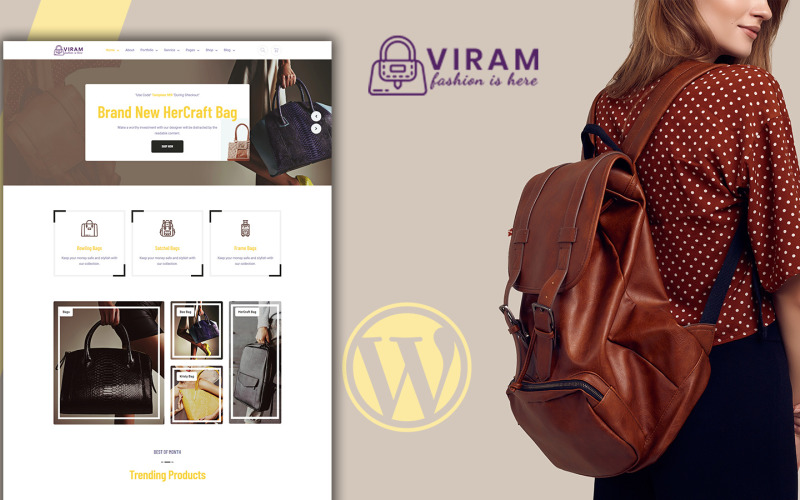 Viram - Tema Woocommerce del negozio di borse