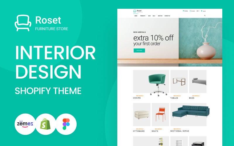 Roset - Responsive Furniture and Interior Design Shopify Theme