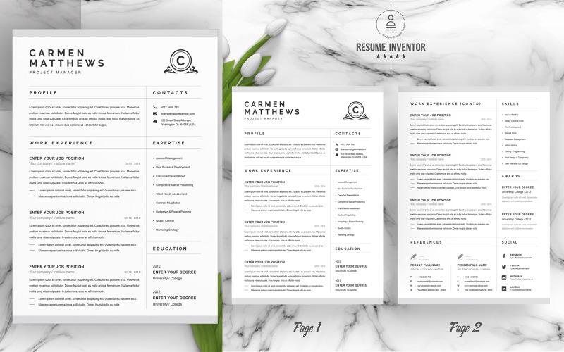 Carmen CV Printable Resume Templates