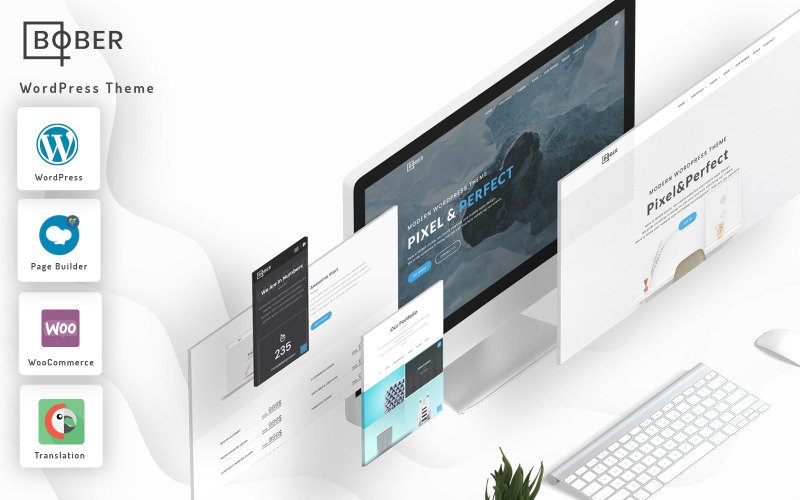 Bober - креативная адаптивная минималистичная тема WordPress для корпоративных, портфолио и агентств