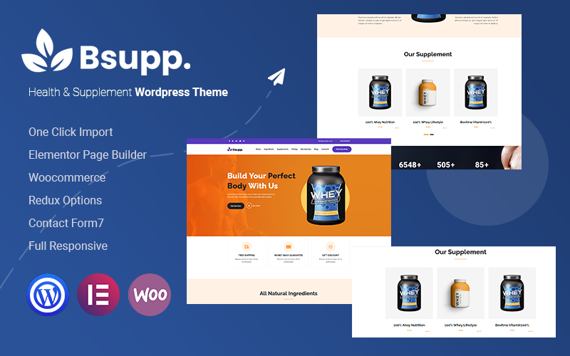 Bsupp - Health & Supplement WordPress Theme
