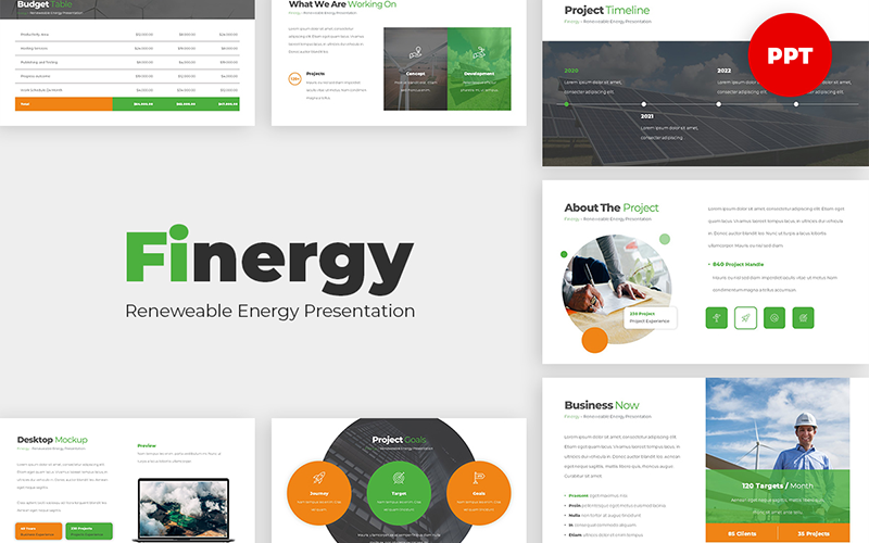 Finergy - Renewable Energy PowerPoint Template