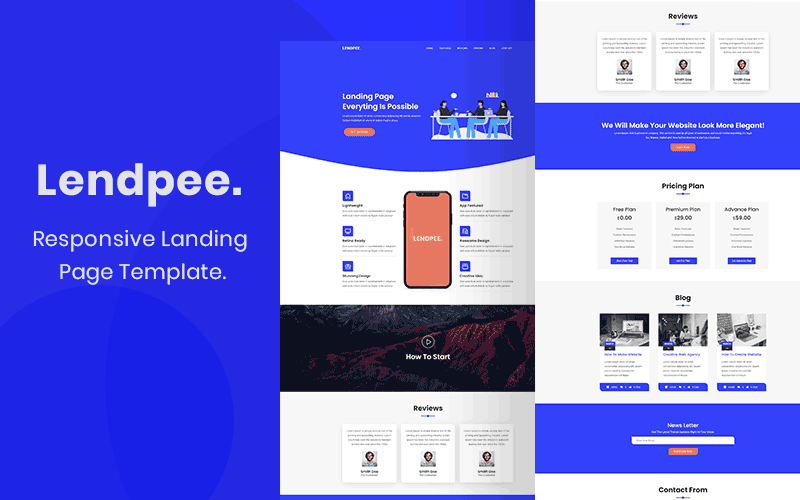 Lendpee - Landing Page Template