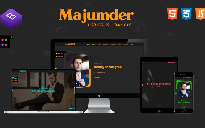 MAJUMDER-3 - Creative Portfolio Bootstrap HTML Landing Page Template