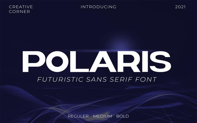 Polaris Futuristic Bold Typeface Font