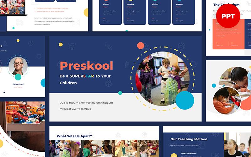 Preskool - Kindergarten PowerPoint sunum şablonları