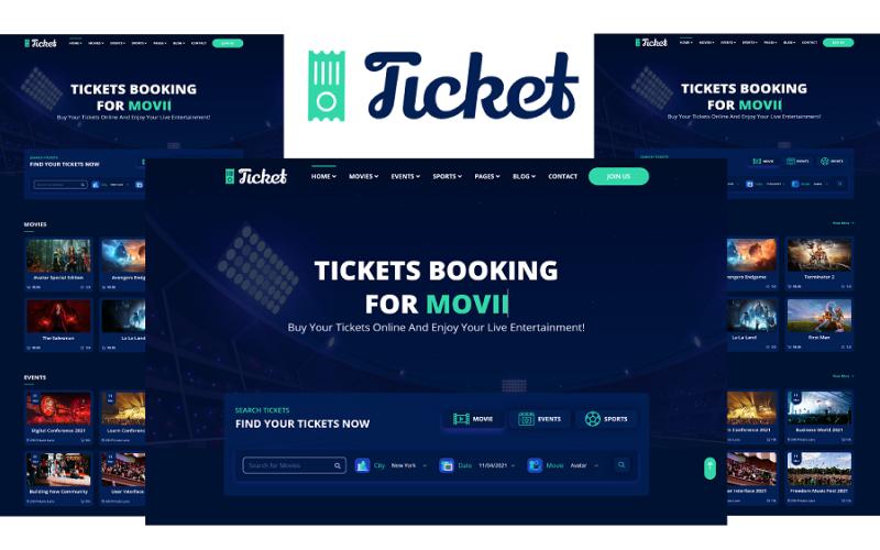 Ticket - Online Ticket Booking Website HTML5 Template