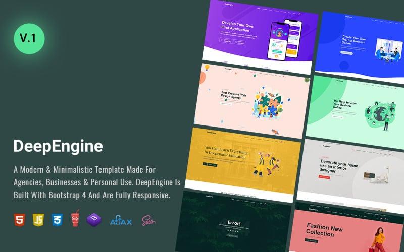 DeepEngine -  Business Multipurpose Premium HTML5 Website Template