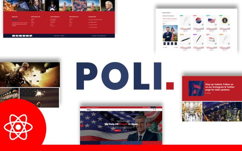 Poli Political Fundraising & Donations React JS Website Template
