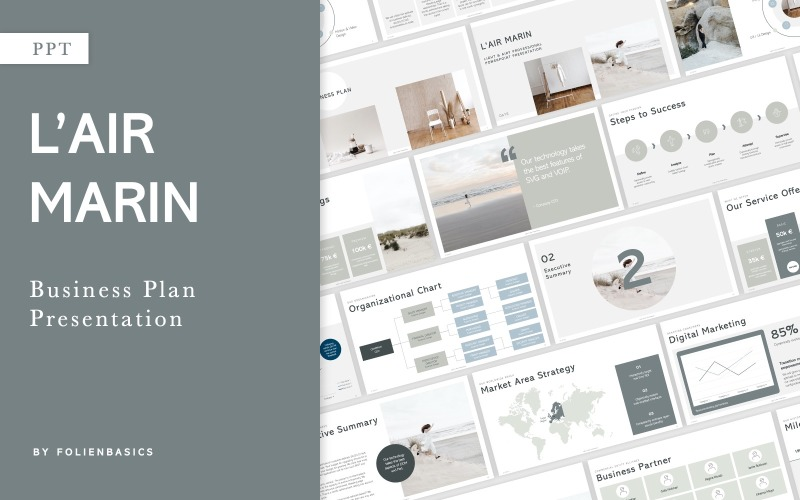 LAir Marin - Pitch & Business Plan PowerPoint Template
