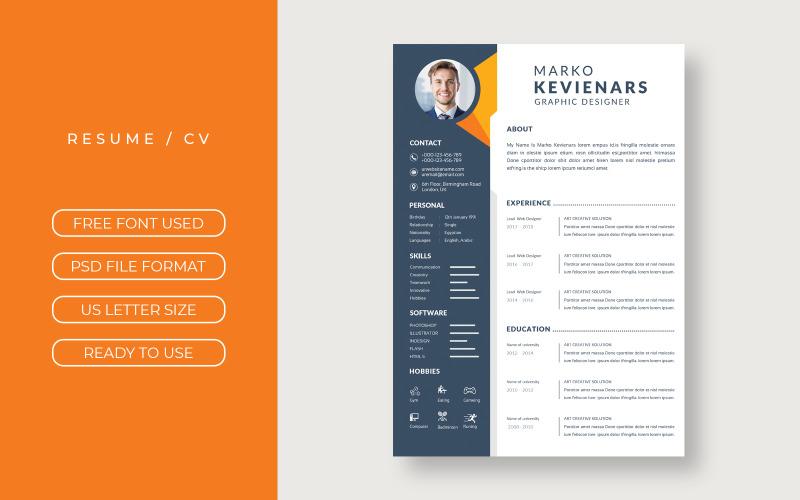 Marko Kevienars Printable CV Printable Resume Templates