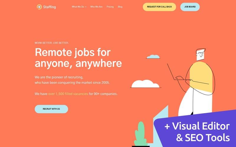 Modello di sito Web MotoCMS per l'agenzia di personale