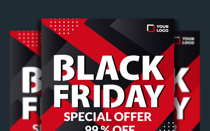 Black Friday Special Offer Flyer Template with Vector