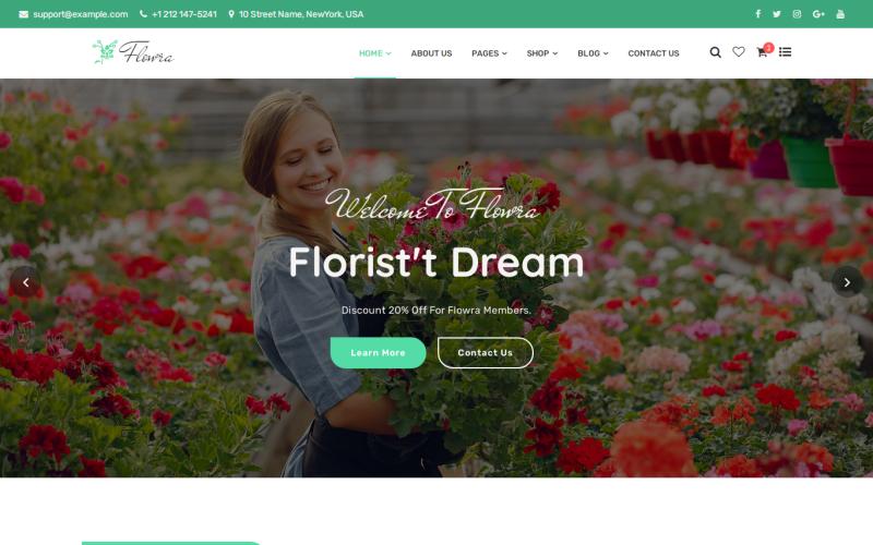 Flowra - Flowershop Website Template